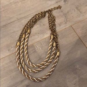 BCBG white gold necklace